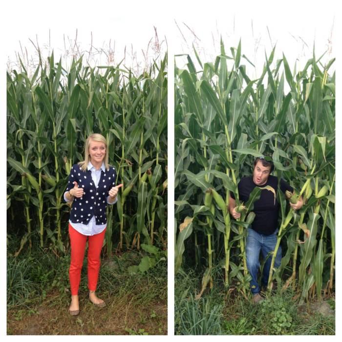farmers in corn